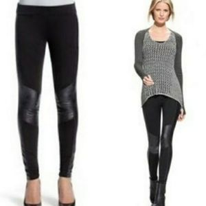 CAbi Ricky Ponte Faux Leather Leggings Size S